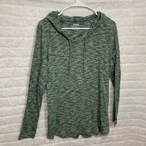 Columbia Sportswear Heathered Green Hoodie Large